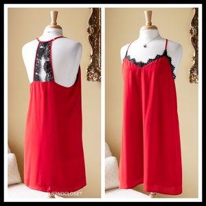 a8111b59d286 Socialite Dresses | Crochet Lace Open Back Red Mini Slip Dress A2c ...